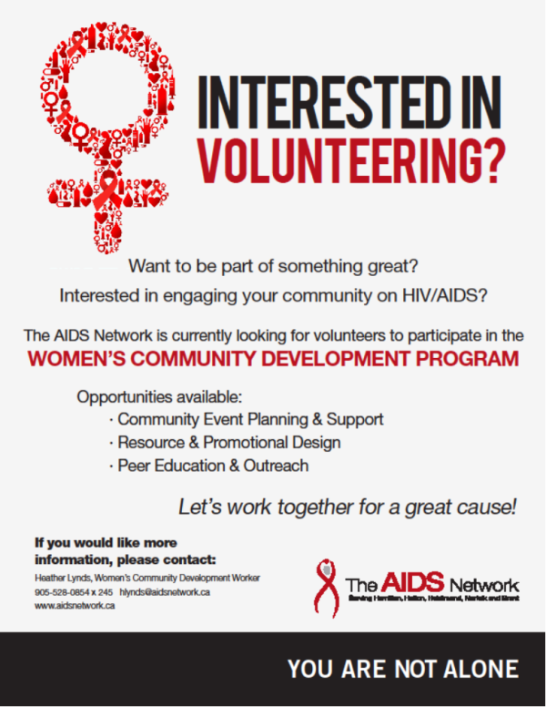 Interested in Volunteering with the Women's program? Don't hesitate ti contact Heather Lynds; Women's Community Development Worker.